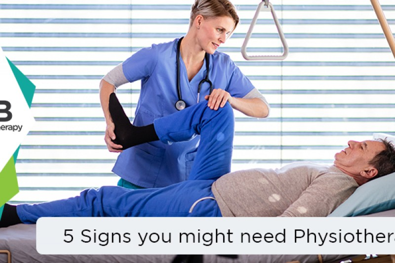 5 Signs you might need Physiotherapy.